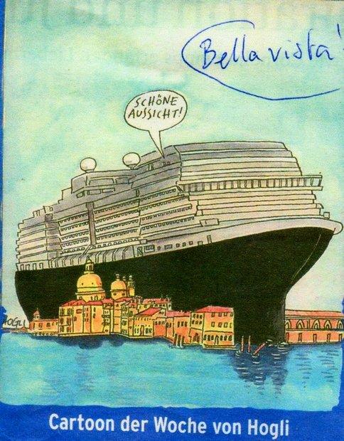 GRANDI NAVI, VU PAR LES ALLEMANDS dans 07 Peinture & Dessins Venezia-Cartoon-2