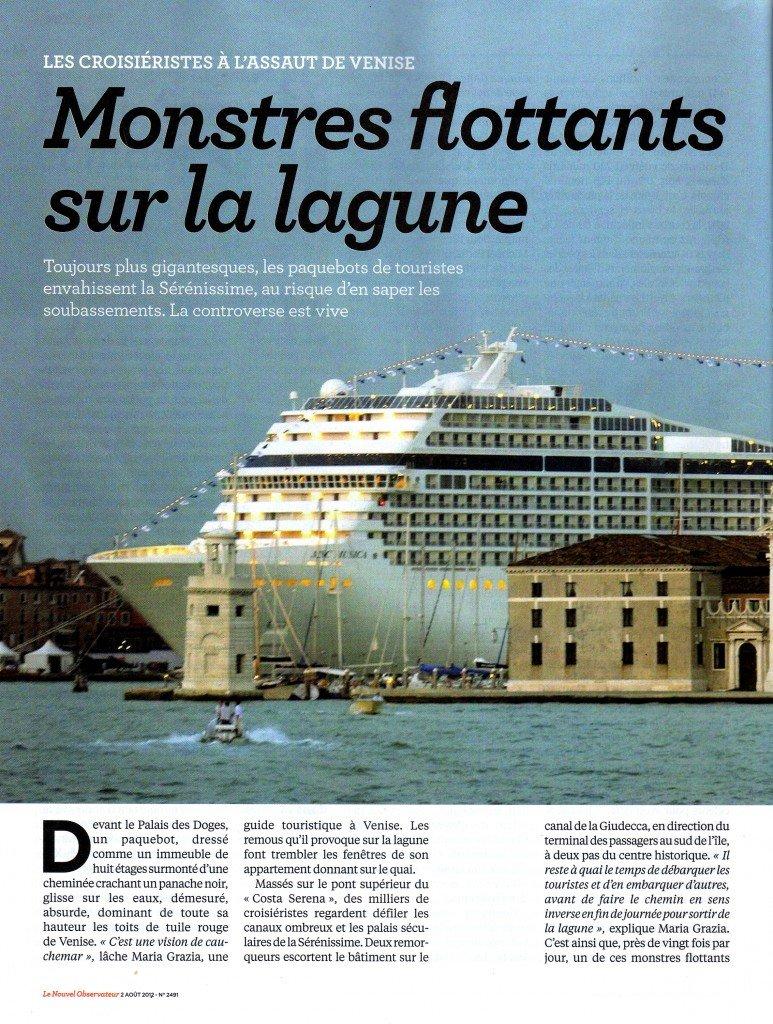 L'ARTICLE DU « NOUVEL OBS » SUR LES « GRANDI NAVI » à VENISE dans Venise : évenements obs1-773x1024