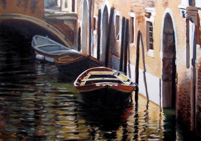 TROIS BARQUES par HUGO H dans 09 Peinture & Dessins 3-barques-reduit