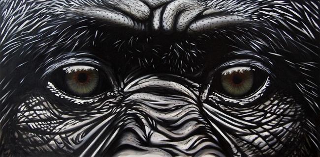 GORILLE par HUGO H dans 07 Peinture & Dessins gorille1-650