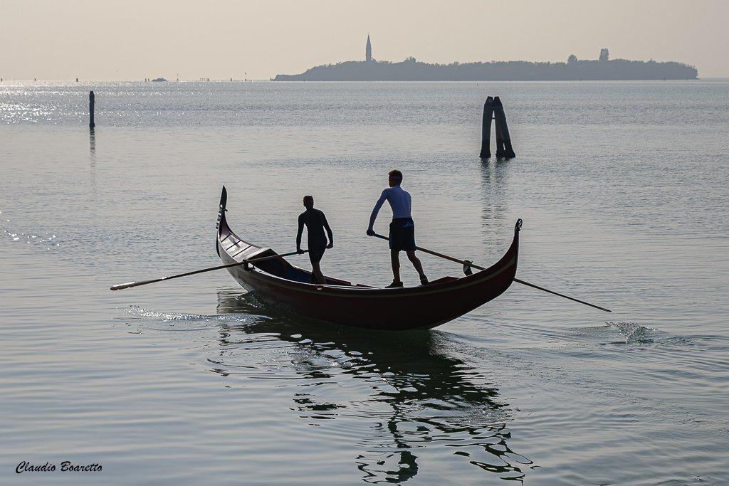 Contre-jour en lagune de Venise