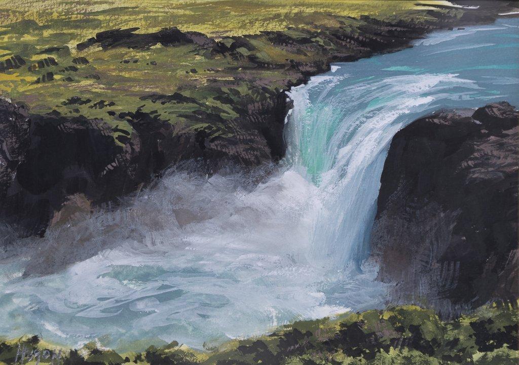 "17 93 Cascade ""Salto Grande"" (Pudeto, Parco Nacional Torres del Paine)"